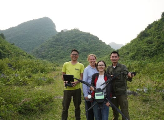 Debbie and the SVW pangolin drone team
