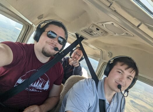 will seiter and the copperhead team onboard their cessna 172 aircraft